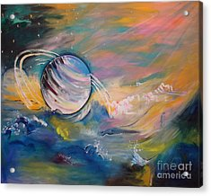 Who But You Could Leave A Trail Of Galaxies Acrylic Print by PainterArtist FIN