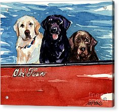 Whole Crew Acrylic Print by Molly Poole