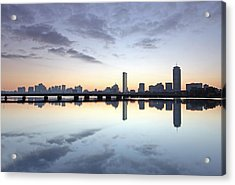 New England Acrylic Print featuring the photograph Why So Quiet Boston by Juergen Roth