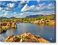 Wichita Mountains Acrylic Print by Jeff Kolker