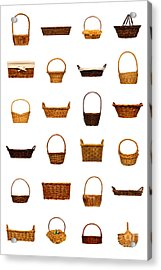 Wicker Basket Collection Acrylic Print by Olivier Le Queinec