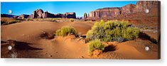 Wide Angle View Of Monument Valley Acrylic Print by Panoramic Images