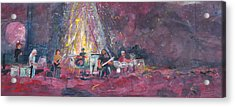 Widespread Panic Painted Live  Acrylic Print by David Sockrider