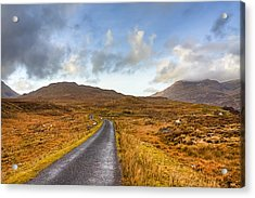 Wild Landscape Of Connemara Ireland Acrylic Print by Mark Tisdale