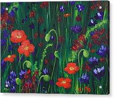 Wild Poppies Acrylic Print by Anastasiya Malakhova