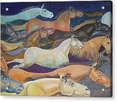 Wild Racers Acrylic Print by Prasenjit Dhar