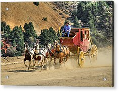 Wild West Ride 2 Acrylic Print by Donna Kennedy