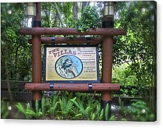 Wilderness Lodge Sign Acrylic Print by Thomas Woolworth