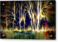 Wildfire Acrylic Print by Karunita Kapoor