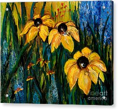 Wildflowers Acrylic Print by Larry Martin