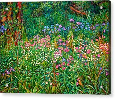 Wildflowers Near Fancy Gap Acrylic Print by Kendall Kessler