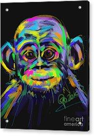 Wildlife Baby Chimp Acrylic Print by Go Van Kampen