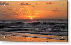Wildwood Beach Here Comes The Sun Acrylic Print by David Dehner