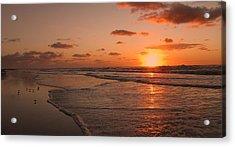 Wildwood Beach Sunrise II Acrylic Print by David Dehner