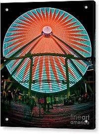 Wildwood's Giant Wheel Acrylic Print by Mark Miller