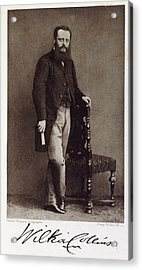 Wilkie Collins Acrylic Print by British Library