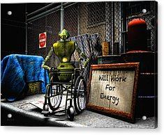 Will Work For Energy Acrylic Print by Bob Orsillo