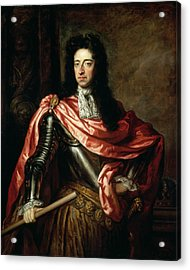 William IIi Of Great Britain And Ireland Oil On Canvas Acrylic Print by Sir Godfrey Kneller