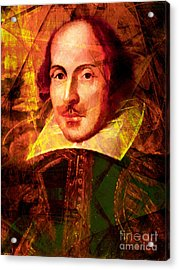 William Shakespeare 20140122 Acrylic Print by Wingsdomain Art and Photography