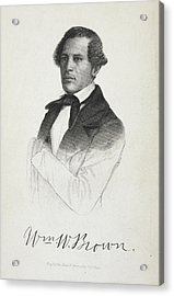William W. Brown Acrylic Print by British Library