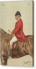 William Ward Tailby Acrylic Print by Sir Samuel Luke Fildes