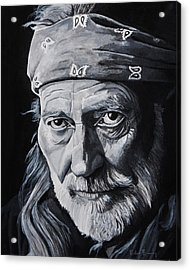 Willie  Acrylic Print by Brian Broadway