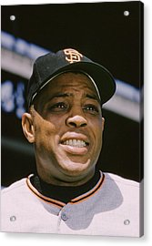 Willie Mays Close-up Acrylic Print by Retro Images Archive
