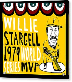 Willie Stargell Pittsburgh Pirates Acrylic Print by Jay Perkins