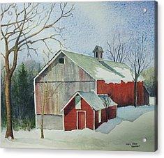 Williston Barn Acrylic Print by Mary Ellen  Mueller Legault