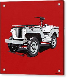 Willys Jeep Acrylic Print by Slade Roberts