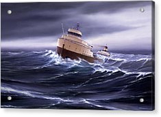 Wind And Sea Astern Acrylic Print by Captain Bud Robinson