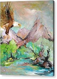 Wind Beneath My Wings Acrylic Print by Mary Spyridon Thompson