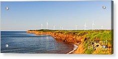 Wind Turbines On Atlantic Coast Acrylic Print by Elena Elisseeva
