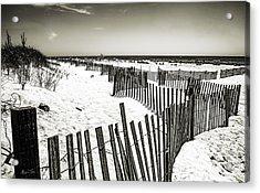 Winding Fence - Bridgehampton Beach - Ny Acrylic Print by Madeline Ellis