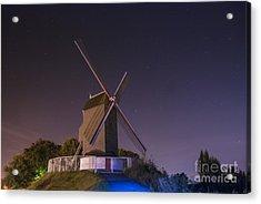 Windmill At Night Acrylic Print by Juli Scalzi
