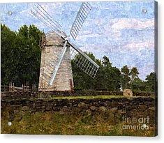 Windmill Acrylic Print by Diane Goulart