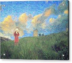 Windmill Girl Acrylic Print by Taylan Soyturk
