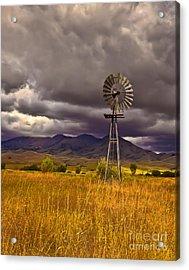 Windmill Acrylic Print by Robert Bales