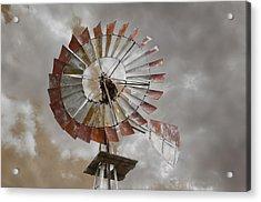 Windmill Acrylic Print by Steven  Michael