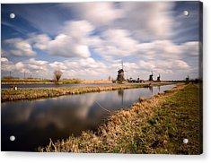 Windmills And Wind Acrylic Print by Oleksandr Maistrenko