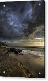 Windnsea Stormy Sky Acrylic Print by Peter Tellone