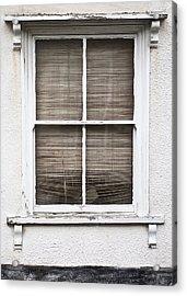Window And Blind Acrylic Print by Tom Gowanlock