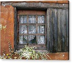 Window At Old Santa Fe Acrylic Print by Kurt Van Wagner