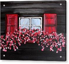 Window Box Acrylic Print by Vicki Kennedy