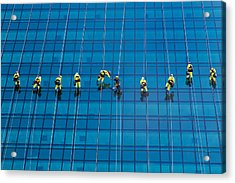 Window Cleaners Acrylic Print by David Van der Want