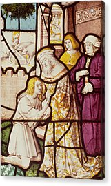 Window Depicting The Return Of The Prodigal Son, Cologne School Stained Glass Acrylic Print by German School