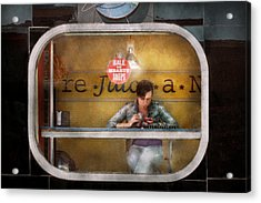 Window - Hoboken Nj - Hale And Hearty Soups  Acrylic Print by Mike Savad