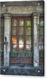 Window In The Quarter Acrylic Print by Brenda Bryant