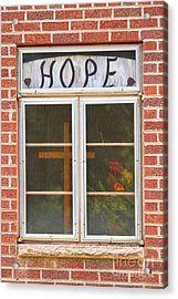 Window Of Hope 2 Acrylic Print by James BO  Insogna