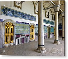 Window Of The Chamber Of The Holy Mantle In The Topkapi Palace Istanbul Turkey Acrylic Print by Ralph A  Ledergerber-Photography
